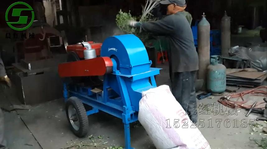 柴油版移动式小型mu屑机客户现场