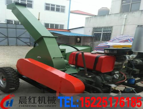 大型移动shi木材削片机
